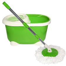Floor Mop by 360 Easy Magic Floor Spin Mop Microfiber Rotating Head Green