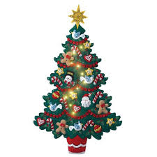 bucilla christmas bucilla merry bright christmas tree wall hanging felt