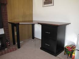 How To Build A Small Desk Stunning Modern Desk Design With Wooden Varnishing Table Combined