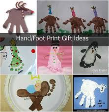 christmas crafts hand and foot print homemade gifts homemade