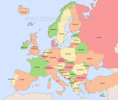 free printable maps of europe inside map of countries in map of