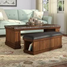 Shipping Crate Coffee Table - marble granite top coffee tables you u0027ll love wayfair