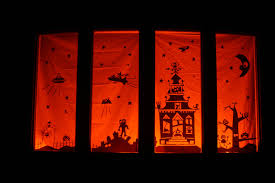 d i y louisville halloween window clings tutorial