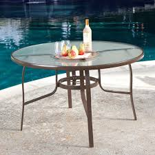Garden Patio Table And Chairs 48 Inch Round Glass Top Outdoor Patio Dining Table With Umbrella