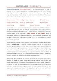 resume objectives exles generalizations unit 1 emf