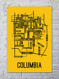 columbia missouri map columbia missouri map print posters