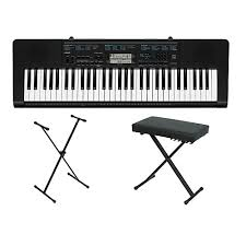 casio ctk 2300 61 key portable keyboard w stand and bench