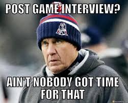 Patriots Lose Meme - post game interview belichick meme
