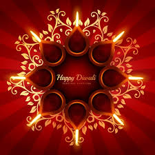 diwali background with floral ornaments vector free