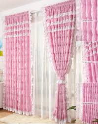 Ruffled Pink Curtains Curtains With Beautiful Ruffled Decaotions For