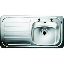 Wickes Single Bowl Kitchen Sink Stainless Steeel Lh Drainer - Sink bowls for kitchen