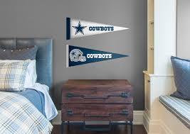 dallas cowboys pennants fathead jr wall decal shop fathead