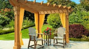 different in materials for arbors and pergolas in garden design