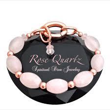 rose quartz crystal bracelet images Rose quartz love energy healing crystal copper reiki clasp JPG