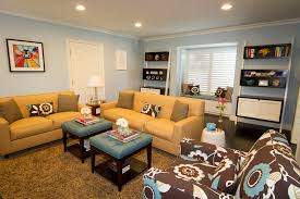 round storage ottoman family room eclectic with furniture in
