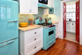 Retro Kitchen Design by Kitchen Appliances Awesome Retro Kitchen Design With Light
