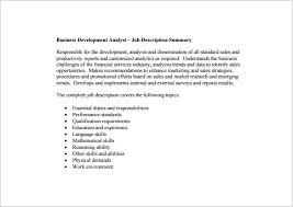 11 business analyst job description templates u2013 free sample