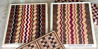 scroll bench chevron style cutting boards