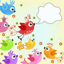 colorful flying birds royalty free cliparts vectors and stock