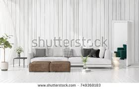 livingroom in large spacious modern minimalist living room stock illustration
