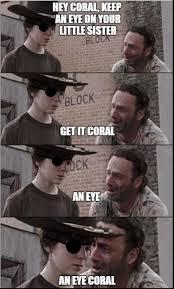 Carl Walking Dead Meme - 35 of the best walking dead carl meme coral dad jokes