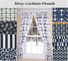 navy nautical window curtains u2022 curtain rods and window curtains