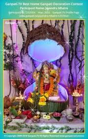 Home Ganpati Decoration Priyanka Vij Home Ganpati Picture 2015 View More Pictures And