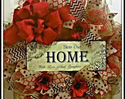 geo mesh wreath burlap mesh wreath etsy