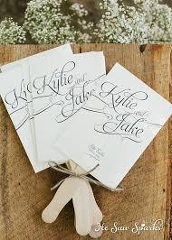 fan programs wedding fan programs templates free wedding program templates