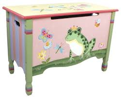 Handcrafted Wooden Toy Box by Magic Garden Handcrafted Kids Wooden Toy Box With Safety Hinge