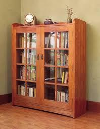 Door Bookshelves by Oak Bookshelves With Glass Doors Idi Design Inside Oak Bookcase
