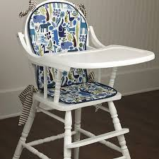 Baby High Chair Cover Cerulean Zoo High Chair Pad And Luxury Baby Cribs In Baby