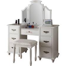 Lighted Make Up Vanity Furniture Makeup Desk With Lights White Vanity Stool Diy