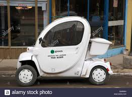 Town Car Rental Small Electric Rental Car On The Main Street In Historic Town Of