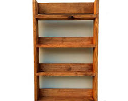 Rustic Spice Rack Kitchen Shelf Cabinet Made From Best Home Rustic Spice Rack Etsy