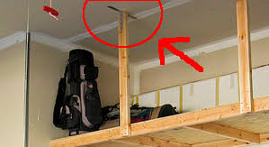 Hanging Shelves From Ceiling by Hanging Shelves For Garage Ideas About Overhead Garage Storage On