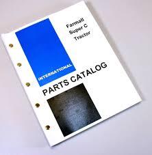 farmall super c tractor parts manual catalog international ih oem