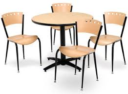 Break Room Table And Chairs by All Arched Base Cafe Table With Four 3818a Cafe Chairs By Kfi