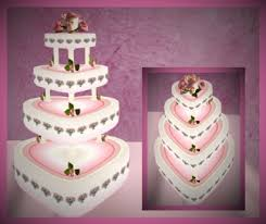 heart shaped wedding cakes second marketplace pink heart shaped wedding cake