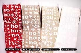 ribbon in bulk ho ho ho print faux burlap ribbon bulk ribbon supply king