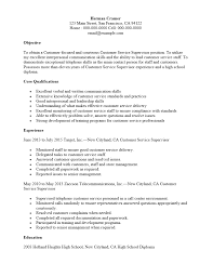 Security Supervisor Resume Customer Service Supervisor Resume Resume Templates
