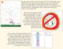 drawings and letters from stuttering foundation a nonprofit
