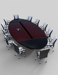 Furniture And Things by Furniture Set 6 Conference Table And Chairs 3d Models And 3d