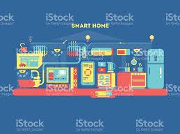 smart home design concept stock vector art 509868740 istock