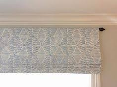Mock Roman Shade Valance - lined faux roman shade white sky blue mock valance covington