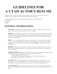 Actor Resume Format Musical Theater Resume Beginner Acting Template For Microsoft Word