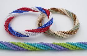 bangle bracelet beads images Tubular twisted herringbone bangle bracelet jpg