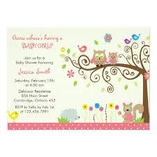 girl baby shower invitations pink owl girl baby shower invitations zazzle