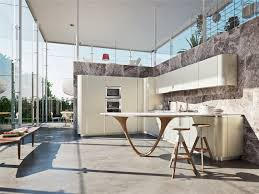 Designer Kitchen Bar Stools by Furniture Luxury Snaidero Kitchens With Concrete Flooring And