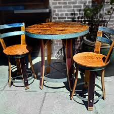 chair oak red wine barrel outdoor chair breck bears chairs and
